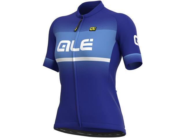 Alé Cycling Solid Blend Maillot Manga Corta Mujer, azul/violeta
